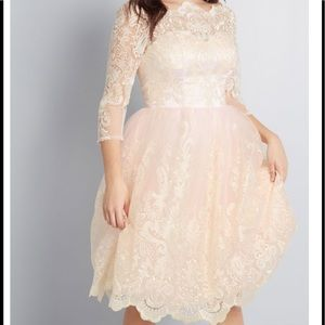 Chi Chi London Gilded Grace Lace Dress